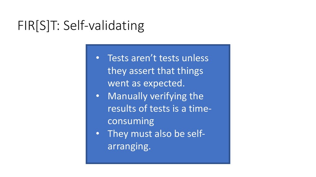 • Tests aren't tests unless they assert that th...