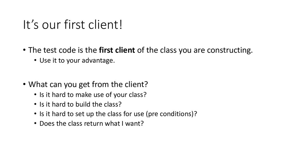 It's our first client! • The test code is the f...