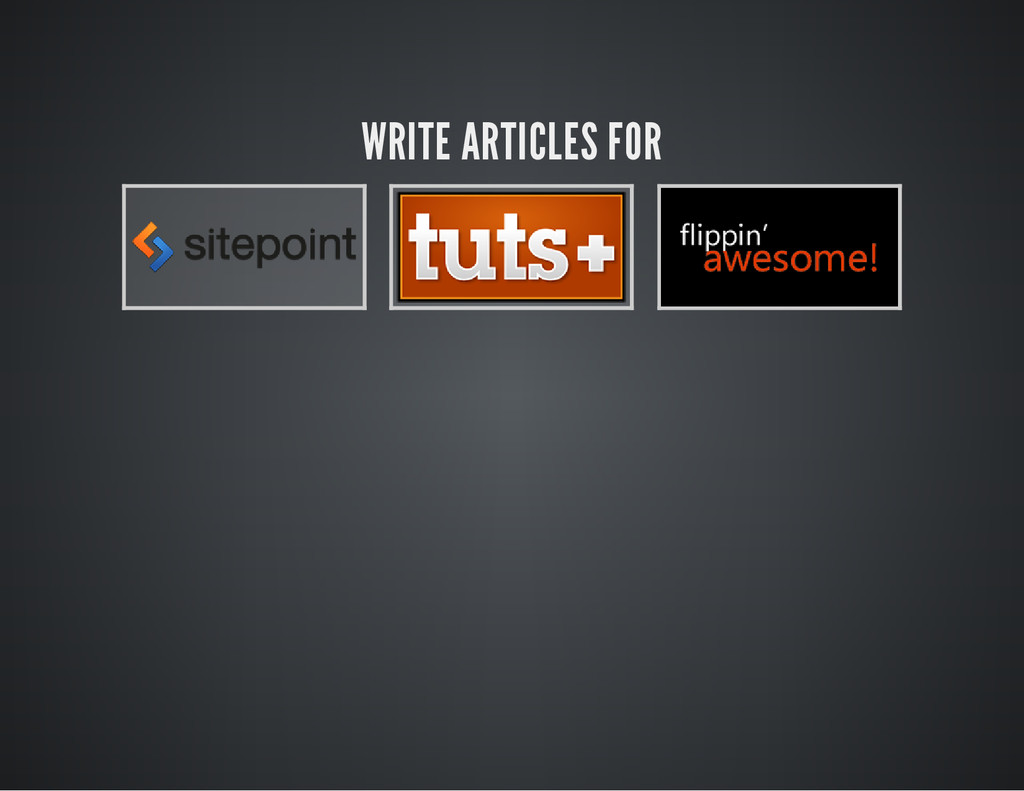 WRITE ARTICLES FOR