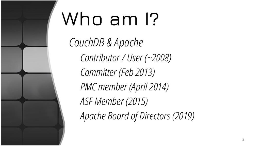 CouchDB & Apache Contributor / User (~2008) Com...