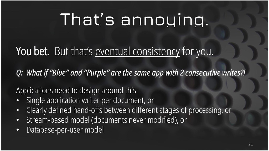 You bet. But that's eventual consistency for yo...