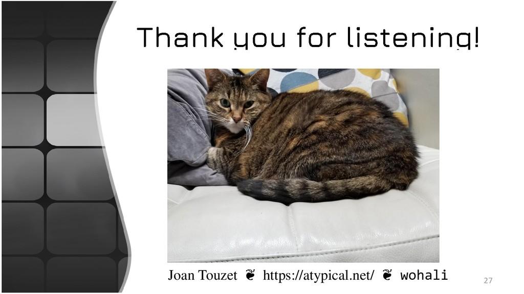 27 Joan Touzet ❦ https://atypical.net/ ❦ wohali