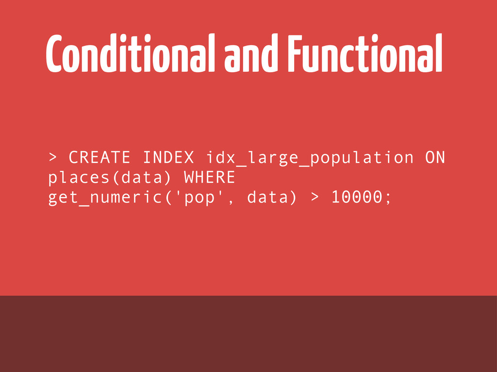 Conditional and Functional > CREATE INDEX idx_l...