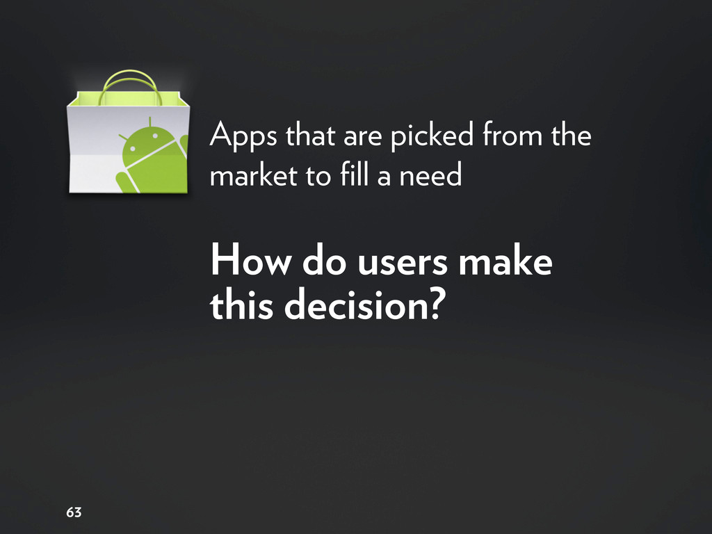 Apps that are picked from the market to fill a n...