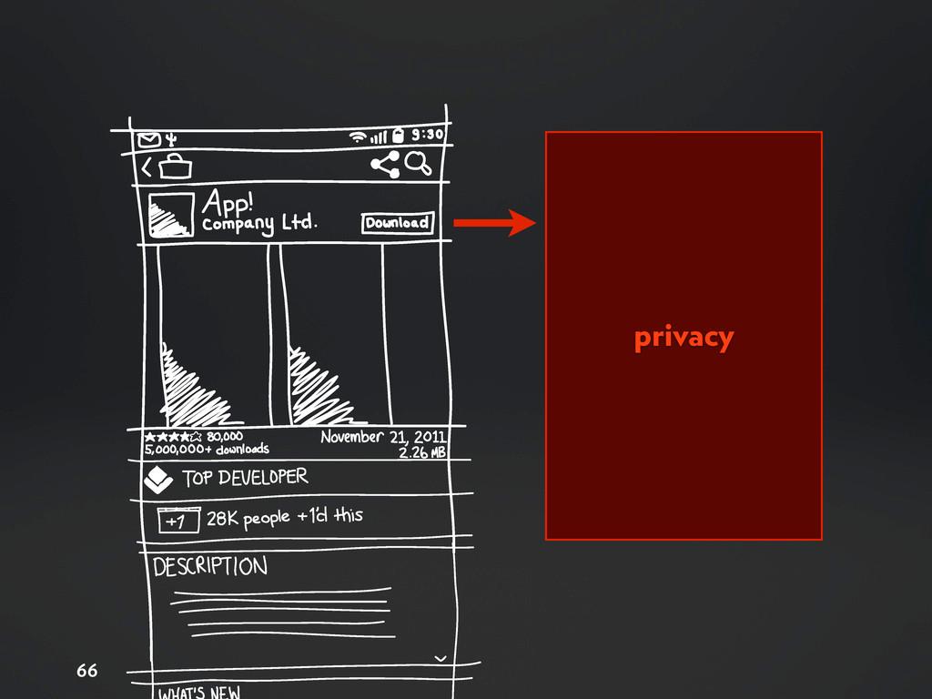 66 privacy