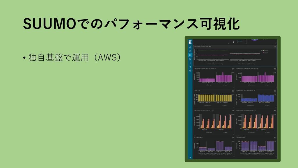SUUMOでのパフォーマンス可視化 • 独自基盤で運用(AWS)