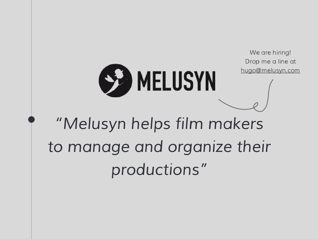 """Melusyn helps film makers to manage and organi..."