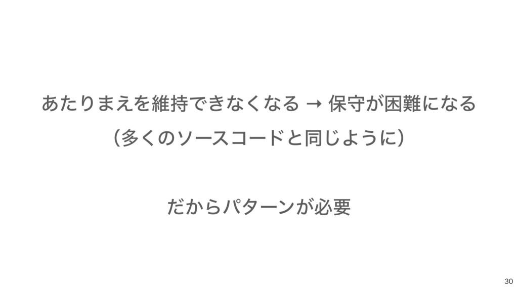 ͋ͨΓ·͑ΛҡͰ͖ͳ͘ͳΔ → อक͕ࠔʹͳΔ ʢଟ͘ͷιʔείʔυͱಉ͡Α͏ʹʣ ͩ...