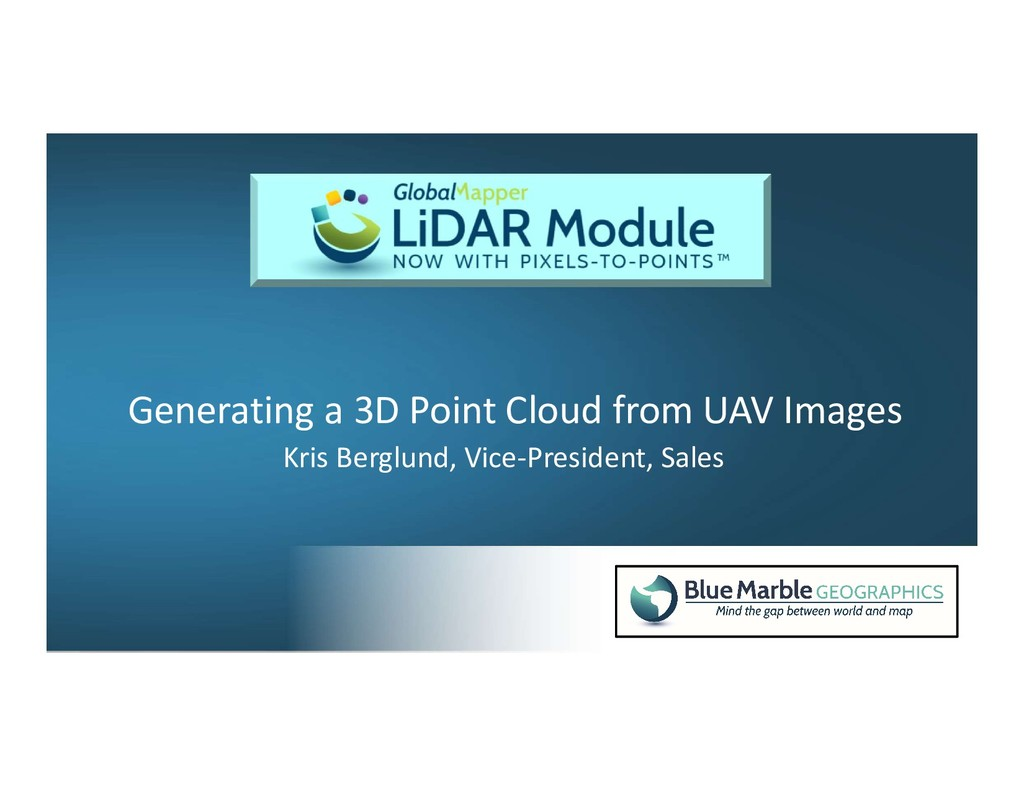 Generating a 3D Point Cloud from UAV Images Kri...