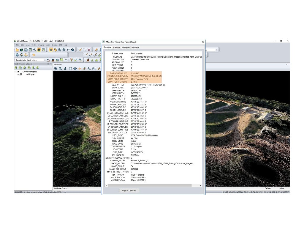 Generating a 3D Point Cloud from UAV Imagery
