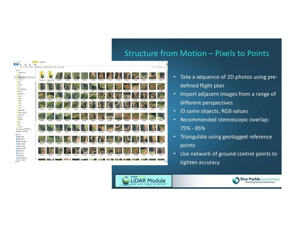 • Take a sequence of 2D photos using pre- defin...