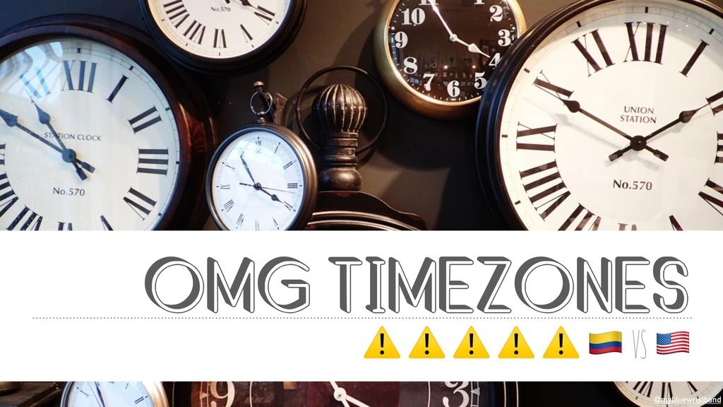 @mybluewristband OMG TIMEZONES ⚠ ⚠ ⚠ ⚠ ⚠ $ vs &...