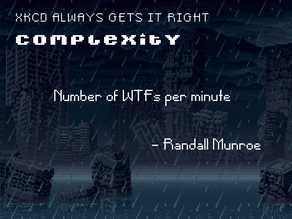 Number of WTFs per minute - Randall Munroe C O ...