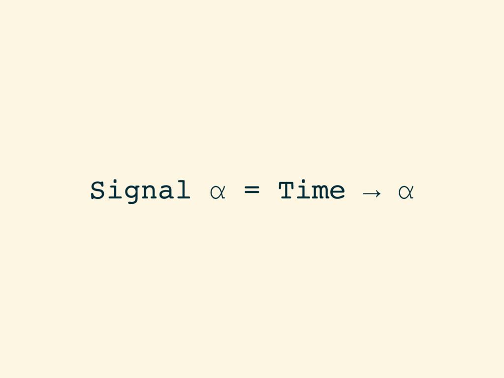 Signal α = Time → α