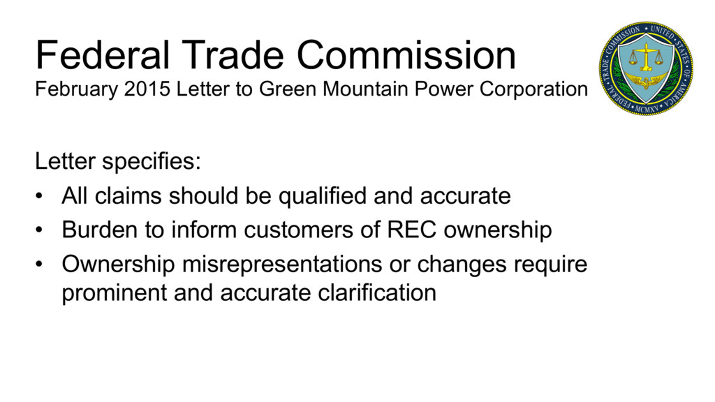 Letter specifies: • All claims should be qualif...