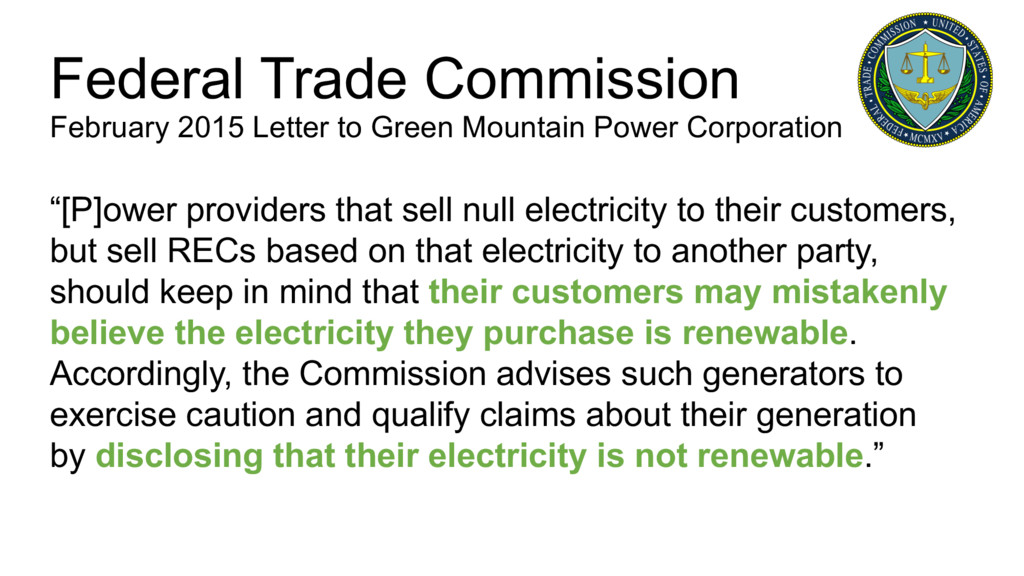 """""""[P]ower providers that sell null electricity t..."""