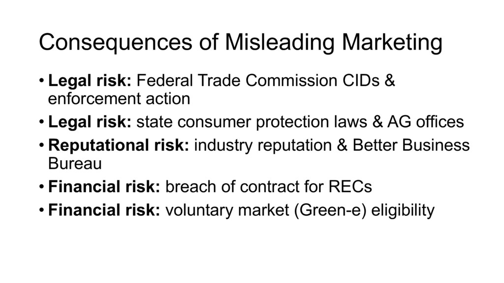 Consequences of Misleading Marketing • Legal ri...