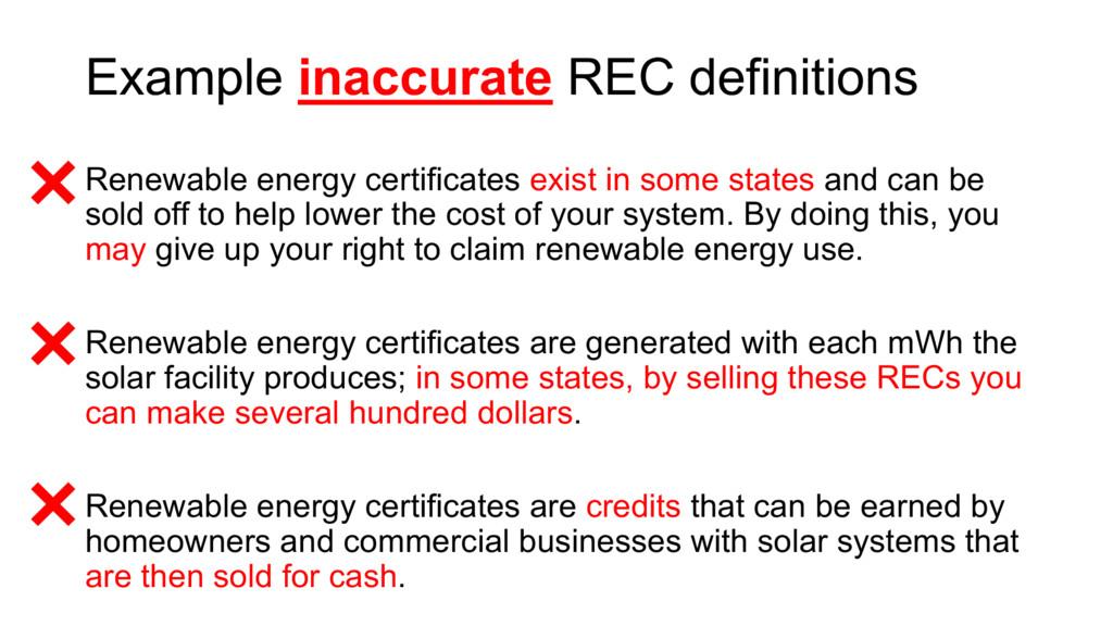 Renewable energy certificates exist in some sta...