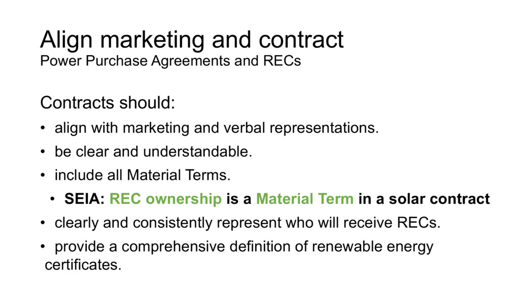 Align marketing and contract Power Purchase Agr...