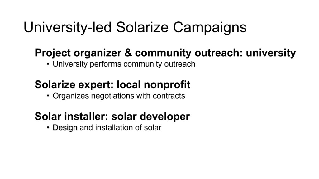 University-led Solarize Campaigns Project organ...