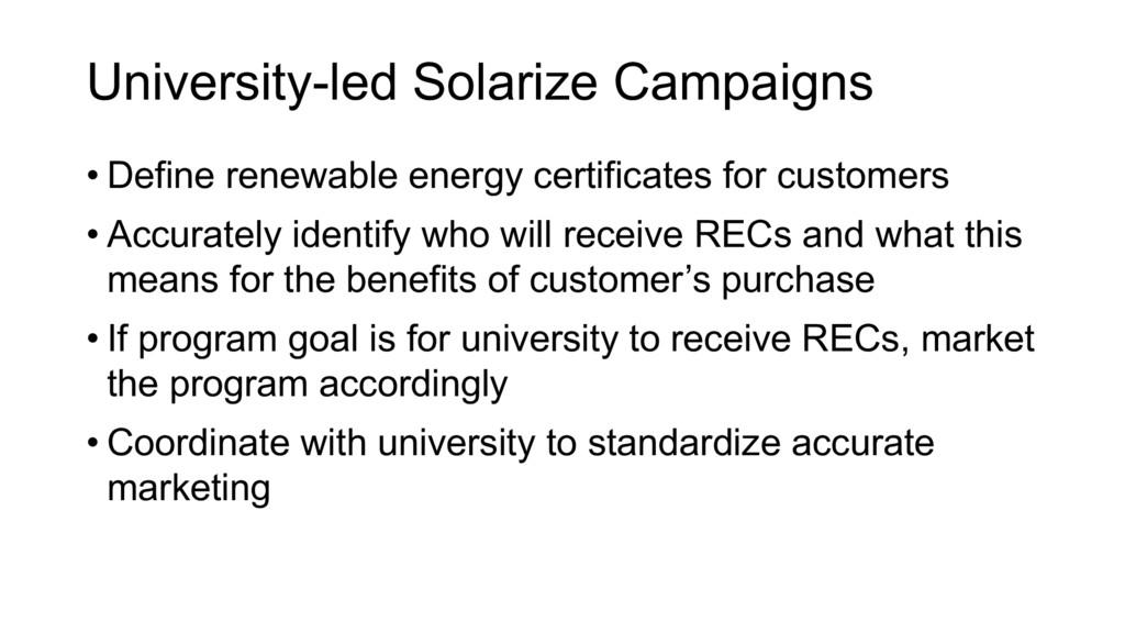 • Define renewable energy certificates for cust...