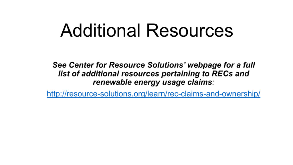 See Center for Resource Solutions' webpage for ...
