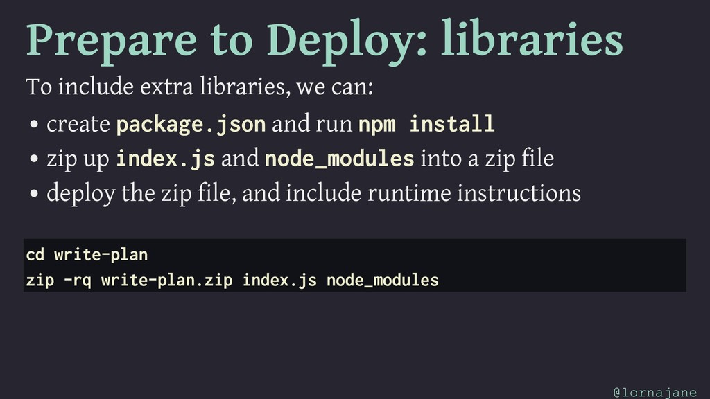 Prepare to Deploy: libraries To include extra l...