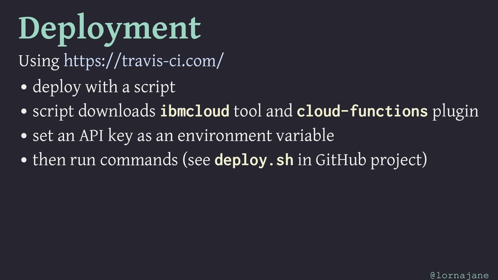 Deployment Using https://travis-ci.com/ • deplo...