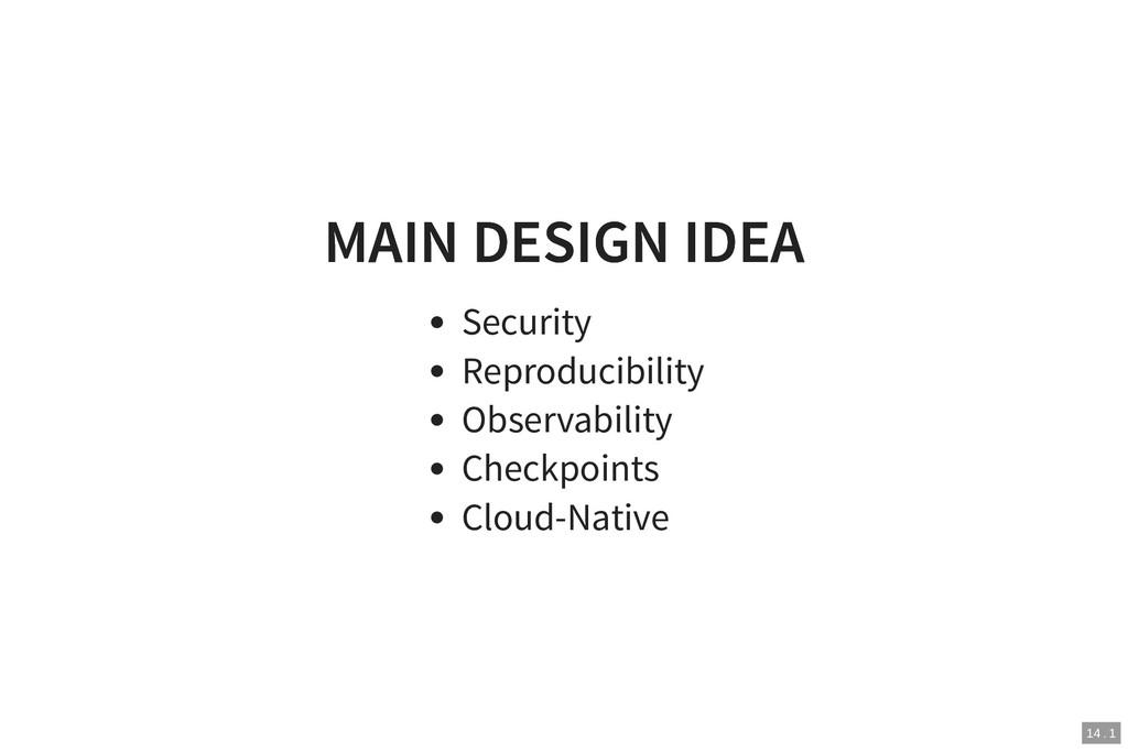 MAIN DESIGN IDEA MAIN DESIGN IDEA Security Repr...