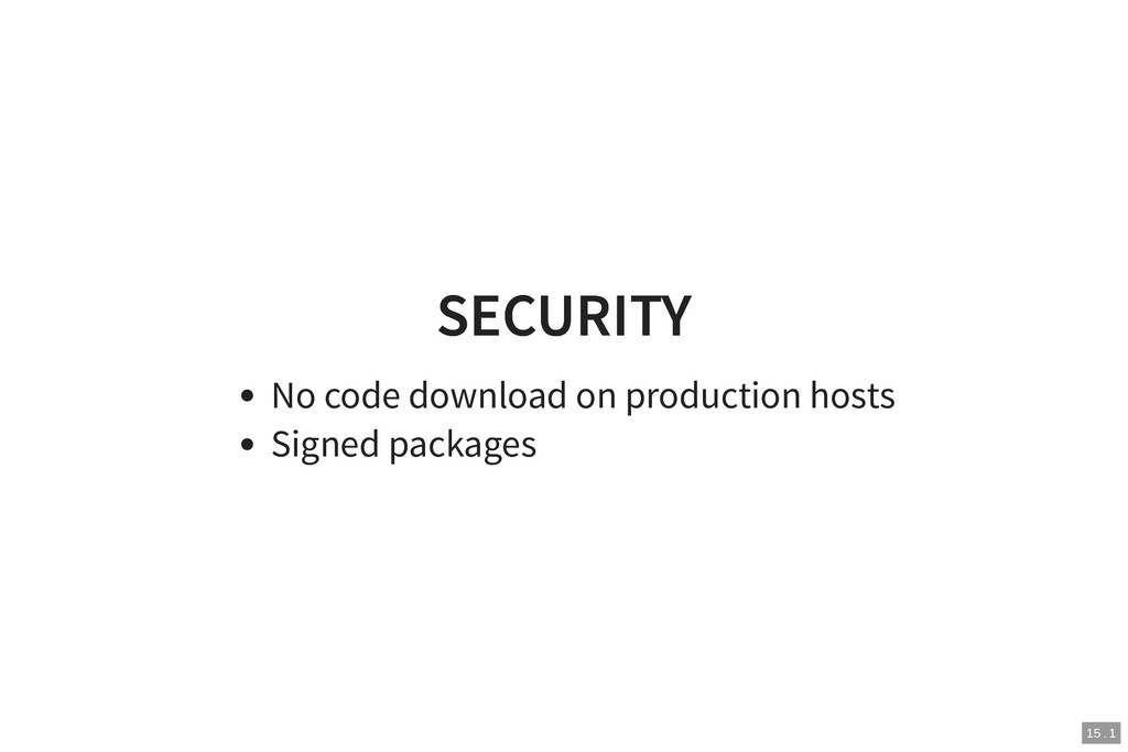 SECURITY SECURITY No code download on productio...