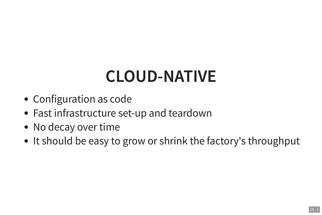 CLOUD-NATIVE CLOUD-NATIVE Configuration as code...