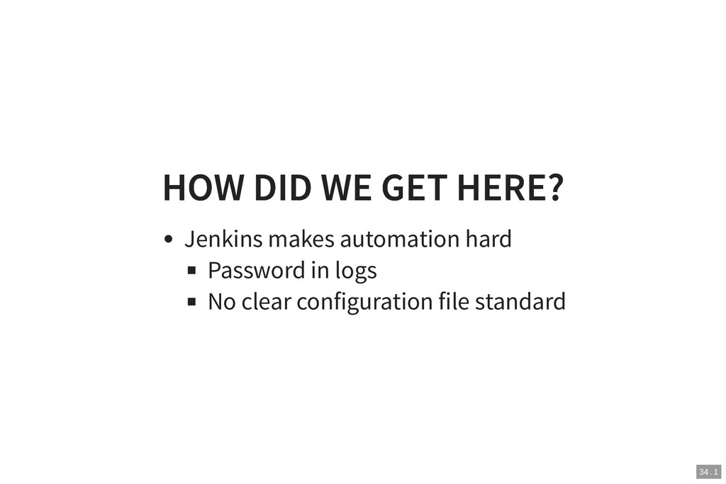 HOW DID WE GET HERE? HOW DID WE GET HERE? Jenki...