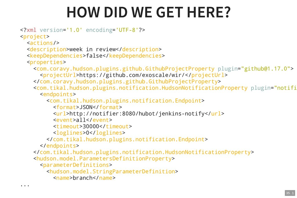 HOW DID WE GET HERE? HOW DID WE GET HERE? <?xml...
