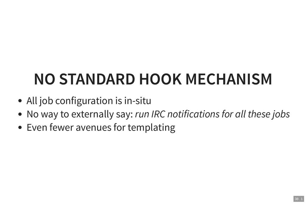 NO STANDARD HOOK MECHANISM NO STANDARD HOOK MEC...