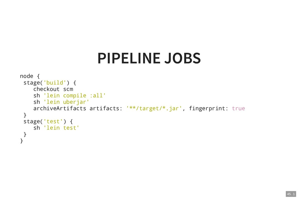 PIPELINE JOBS PIPELINE JOBS node { stage('build...