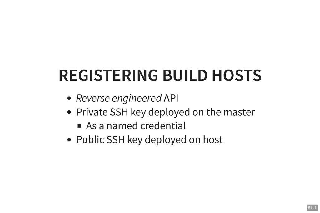 REGISTERING BUILD HOSTS REGISTERING BUILD HOSTS...