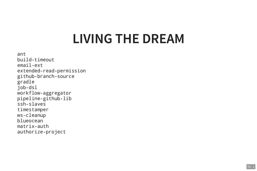 LIVING THE DREAM LIVING THE DREAM ant build-tim...