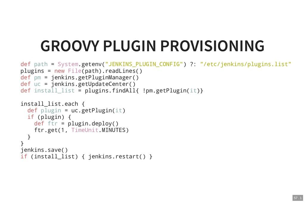 GROOVY PLUGIN PROVISIONING GROOVY PLUGIN PROVIS...