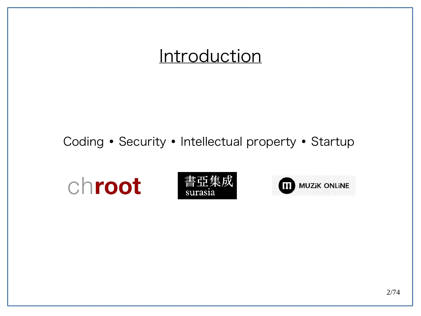 2/74 Introduction Coding Security Intellectual ...