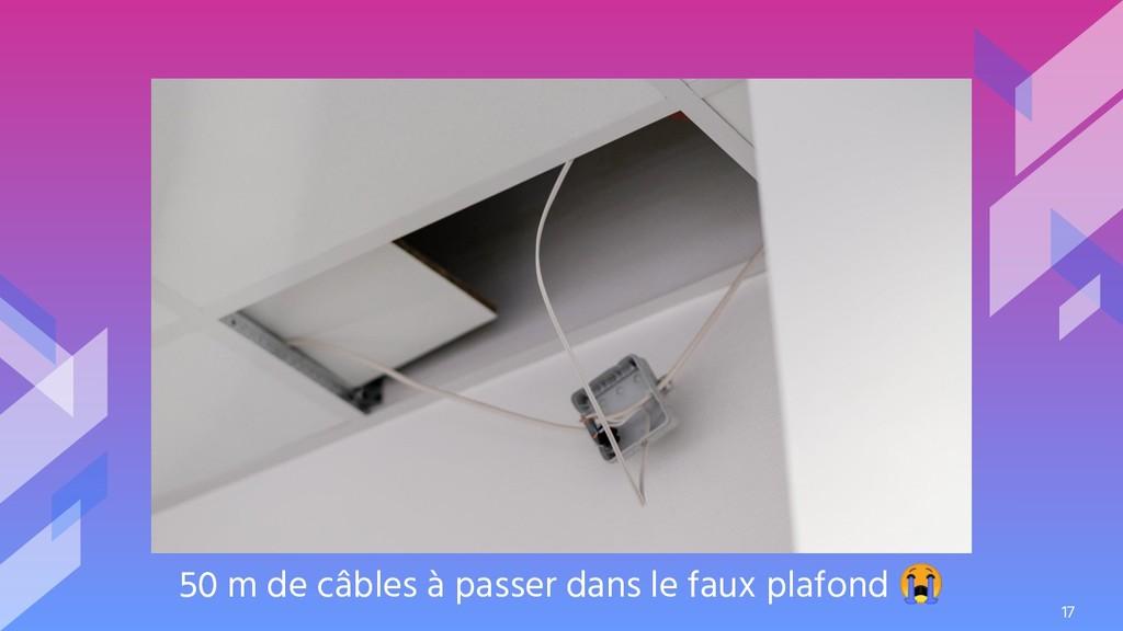 50 m de câbles à passer dans le faux plafond  17