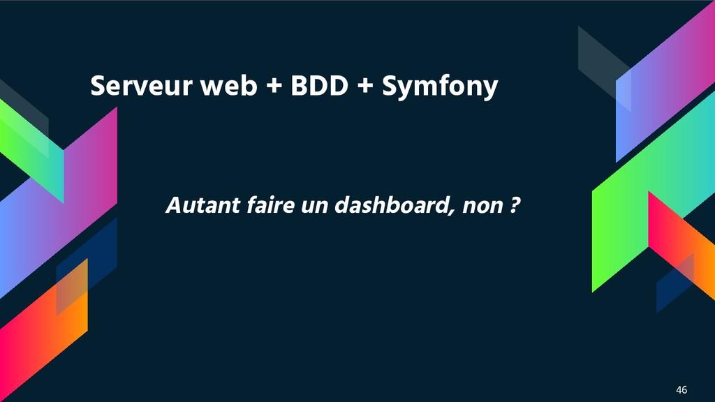 Autant faire un dashboard, non ? 46 Serveur web...