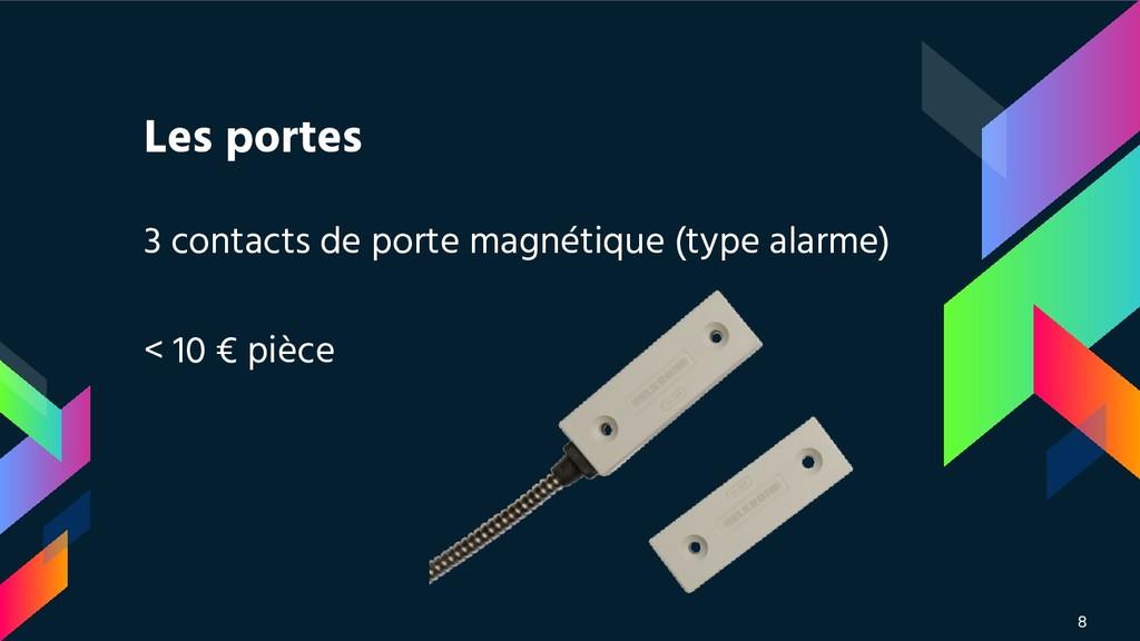 Les portes 3 contacts de porte magnétique (type...