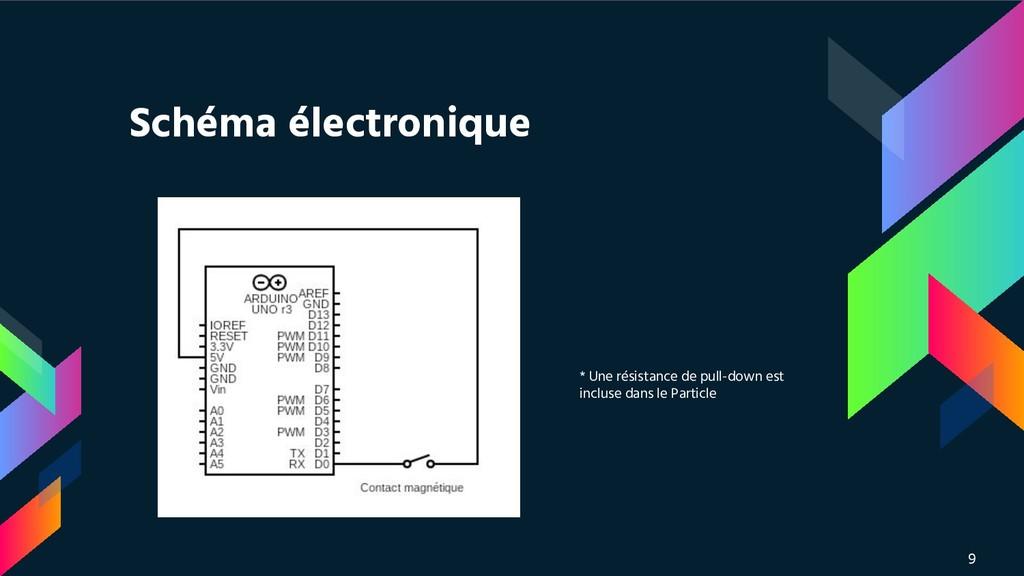 Schéma électronique 9 * Une résistance de pull-...
