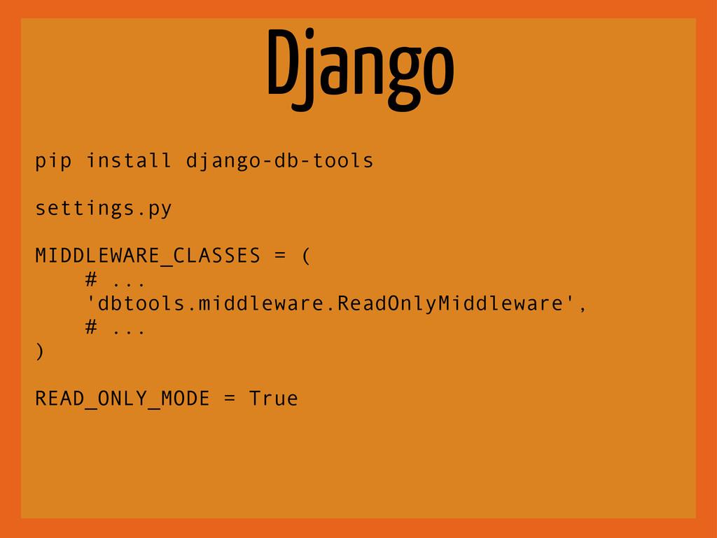 Django pip install django-db-tools settings.py ...
