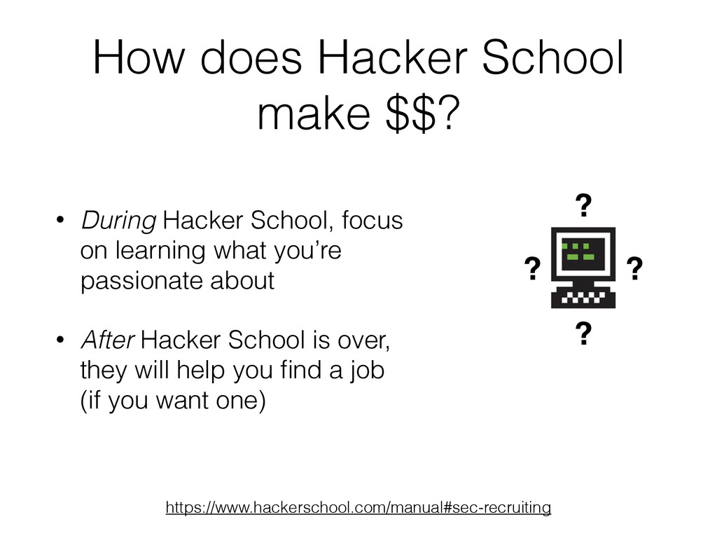 How does Hacker School make $$? ? ? ? ? https:/...