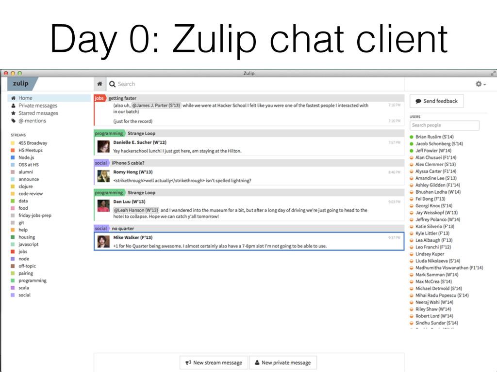 Day 0: Zulip chat client