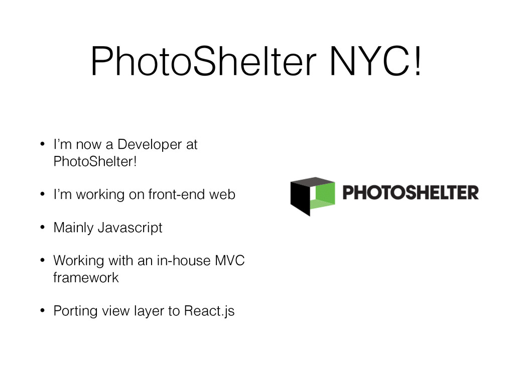 PhotoShelter NYC! • I'm now a Developer at Phot...