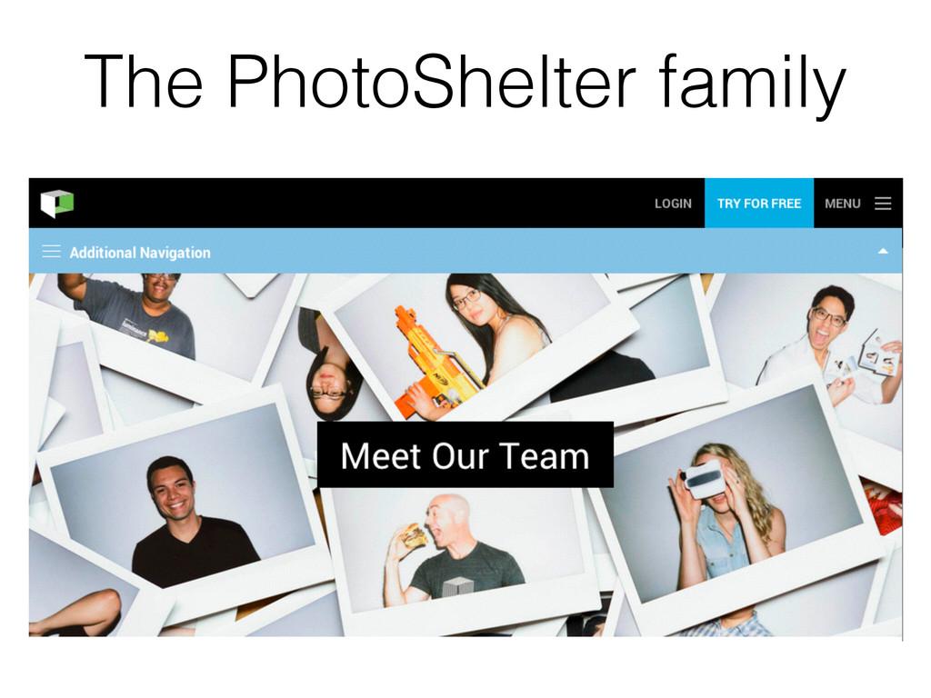 The PhotoShelter family