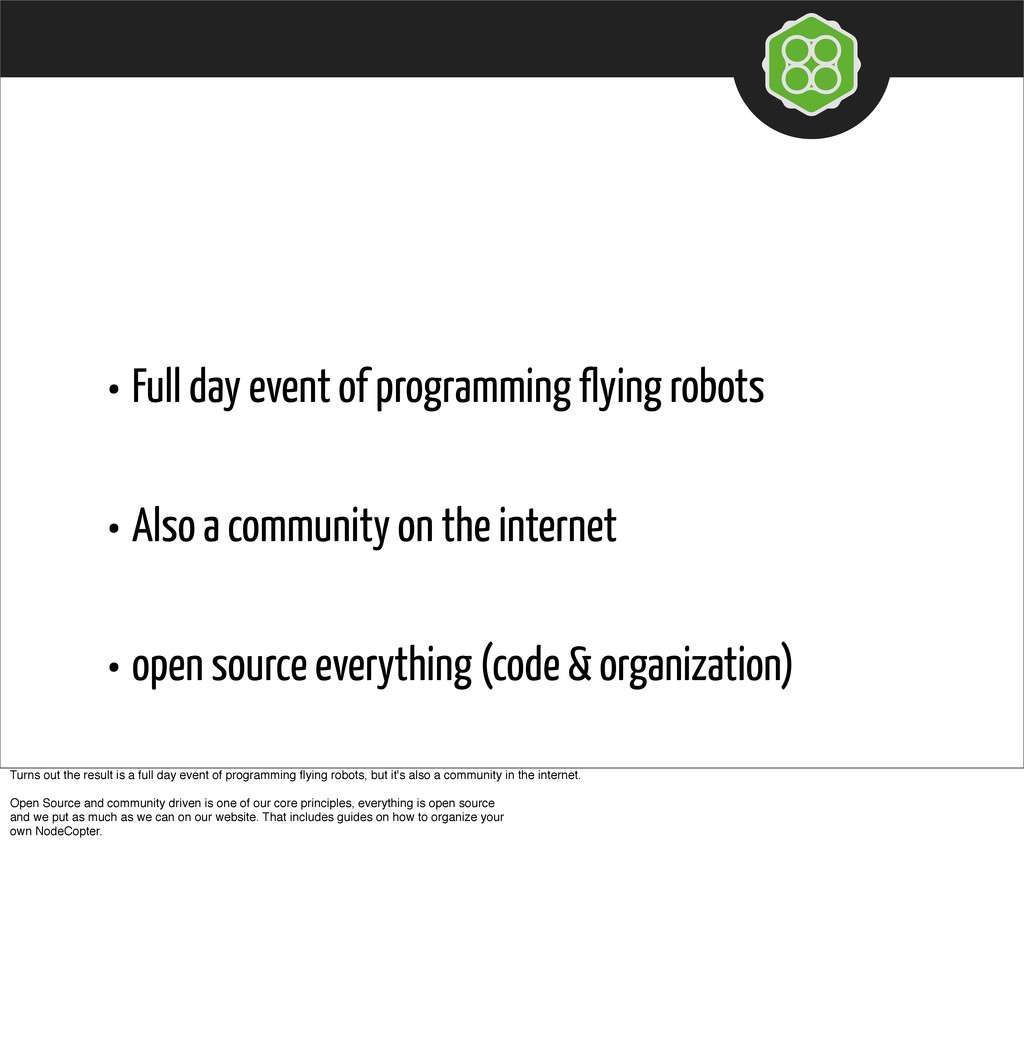 • Full day event of programming flying robots •...