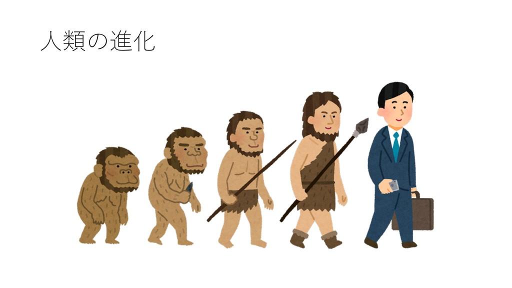 ⼈類の進化